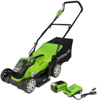 Greenworks Tondeuse à batterie G40LM35K
