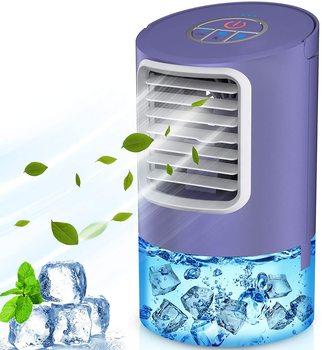 SUPALAK Climatiseur de bureau portable de 400 ml, refroidisseur d'air 4 en 1