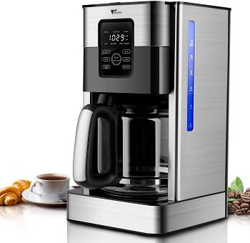 Amzdeal Cafetière Filtre — 1,8 L Machine à Café Programmable 24 h