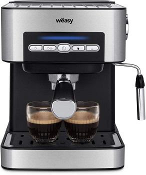 Wëasy Machine à café Expresso en Inox KFX32