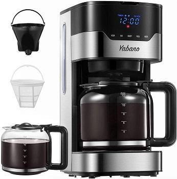 Yabano Cafetière Filtre, Cafetière Électrique Programmable à 12 Tasses (1,5 L)