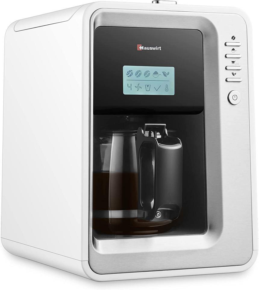 HAUSWIRT Machine à Café Grain Automatique
