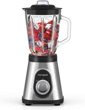 Homgeek Blender Mixeur 700W, Blender Smoothie et Milk-shake Professionnel