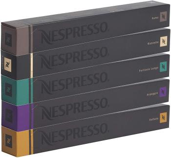 Nespresso Capsules originales café assortiment, 50 capsules – 10 x Roma, 10 x Ristretto, 10 x Fortissio, 10 x Arpeggio, 10 x Volluto