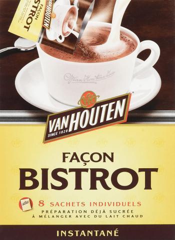 Van Houten Boîte de 8 Sachets Individuels de 20 gr de Chocolat Instantanée