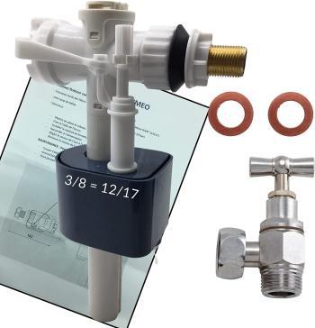 BYMEO, Flotteur WC/Mécanisme Haute Qualité/Valve/Soupape De Remplissage De Chasse D'eau