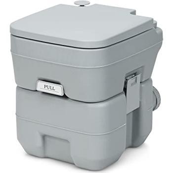 COSTWAY Toilette Portable Toilette Chimique-20L