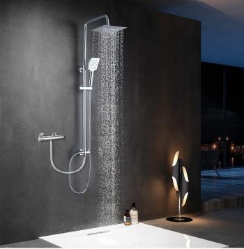 Elbe®Colonne de douche sans robinet mitigeur en acier inoxydable