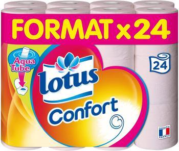 Lotus Confort Papier Toilette 2 Épaisseurs Rose